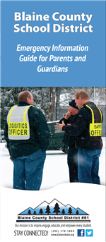Front cover of the safety brochure