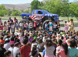 Perfect Attendance Assembly + MONSTER TRUCKS