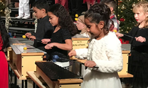 children playing xylophones