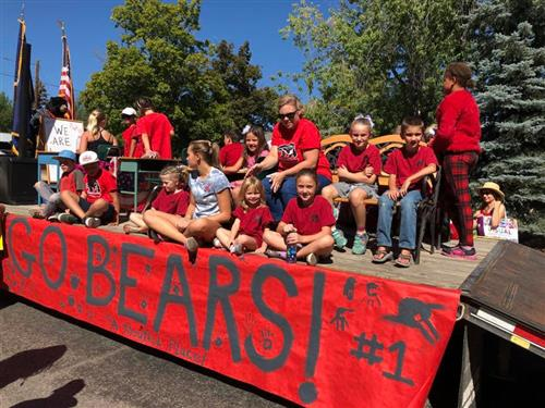 Bellevue Elementary Labor Day Float from 2018