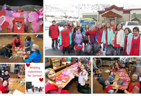Valentine's Day at Senior Center