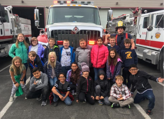 4th Grade Class at Hailey Fire Deparment