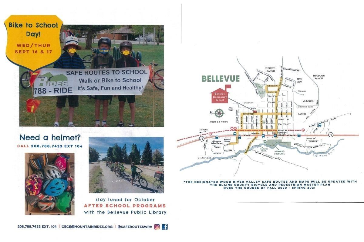 Bike to School Poster and Safe Route Map