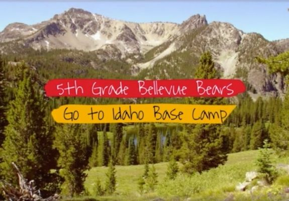 Picture of Mountains with Title: 5th Grade Bellevue Bears Go To Idaho Base Camp