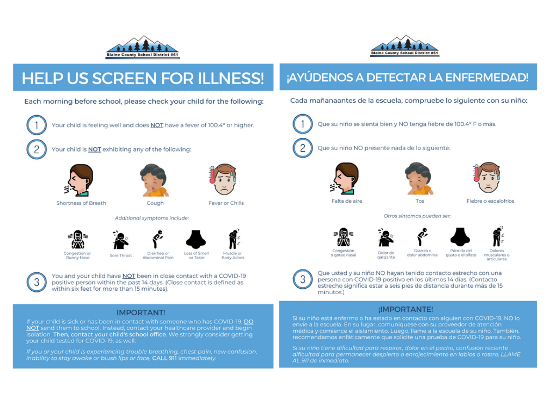 Screen For Illness COVID Posters