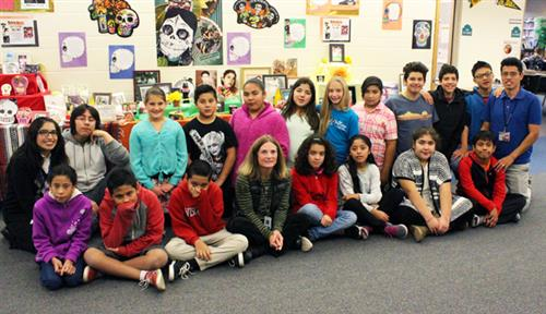 Wood River Middle School Students Day of the dead