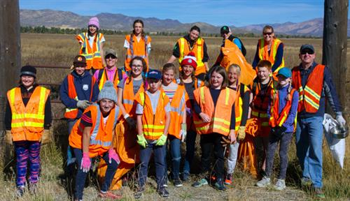 Students Give Back to the Community Highway cleanup creates bonds