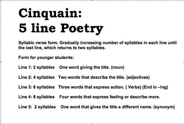 Leslie, Christine / Cinquain Poetry